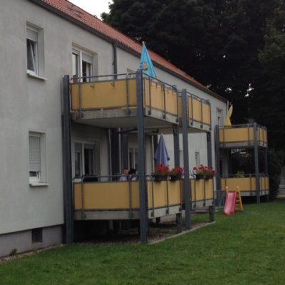 Balkone Aussenansicht der Demenzwohngruppe und Demenzwohngemeinschaft Pappelweg Castrop-Rauxel