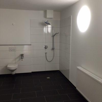Modernes und altengerechtes Badezimmer der Demenzwohngruppe und Demenzwohngemeinschaft Datteln Castroperstr