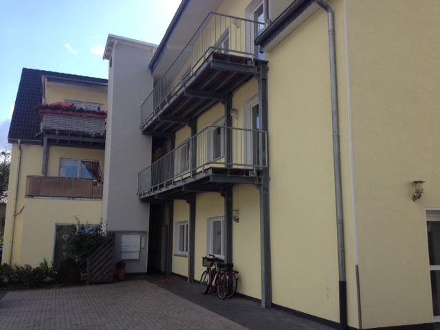 Aussenansicht Balkone der Demenzwohngruppe und Demenzwohngemeinschaft Marl Roemerstr
