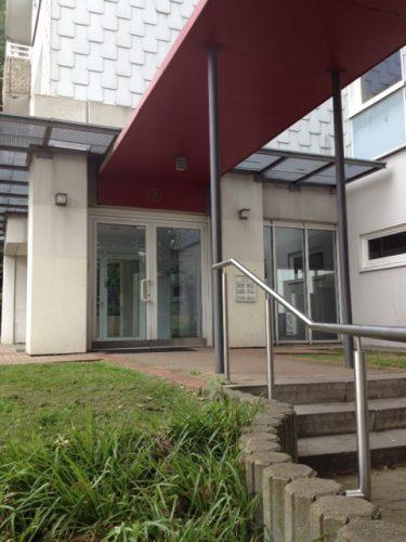 Eingang der Demenzwohngruppe und Demenzwohngemeinschaft Dortmund Adalbertstr