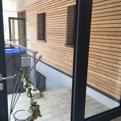 Balkontür in der Demenzwohngruppe und Demenzwohngemeinschaft Dorsten